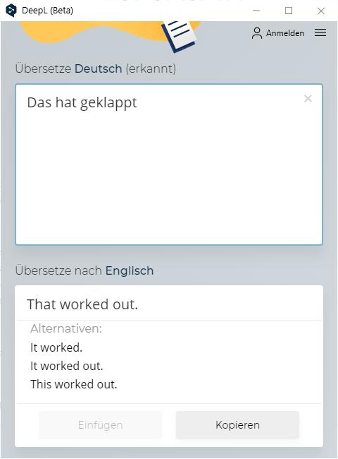 DeepL Übersetzung