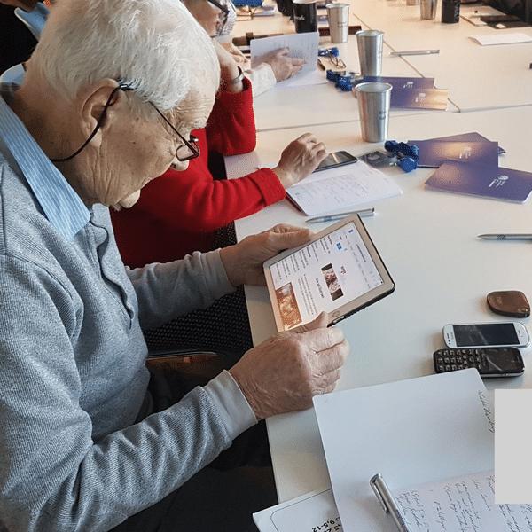 91-jähriger Teilnehmer unserer Smartphone-Schulungen