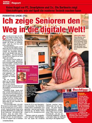 """Artikel über Roswitha Uhde in """"Schöne Woche"""""""
