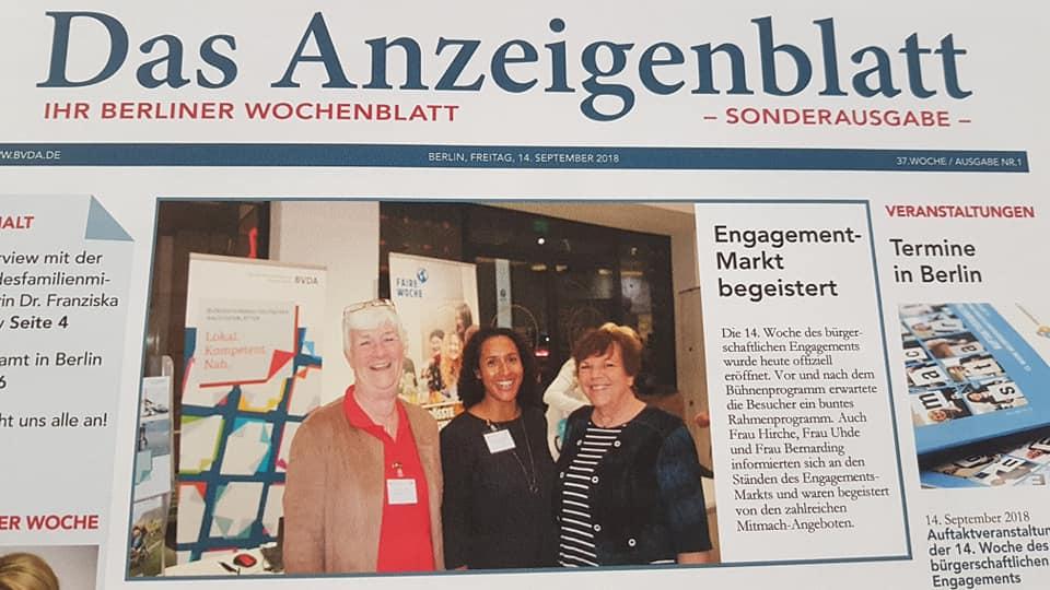Roswitha Uhde in Berliner Wochenblatt Sonderausgabe 9/2018