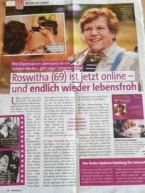 "Story über Roswitha Uhde in ""Bild Woche"" 11/2018"