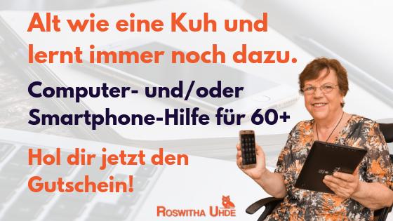 Smartphone-Hilfe und Computer-Hilfe für Menschen 60+