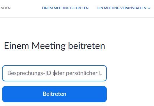Einem Meeting beitreten