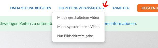 Ein Meeting veranstalten