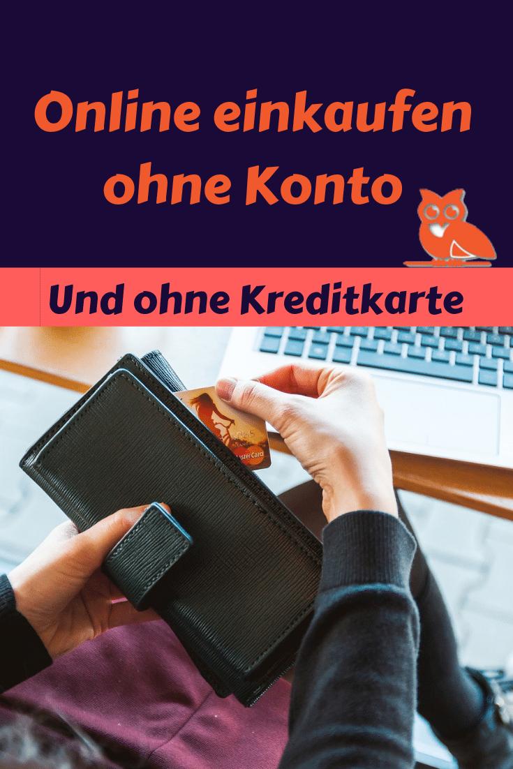 Online einkaufen ohne Konto und ohne Kreditkarte