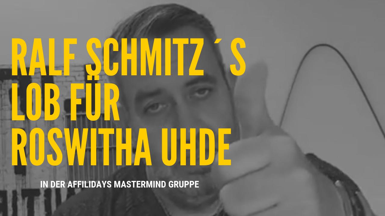 Lob von Ralf Schmitz für Roswitha Uhde