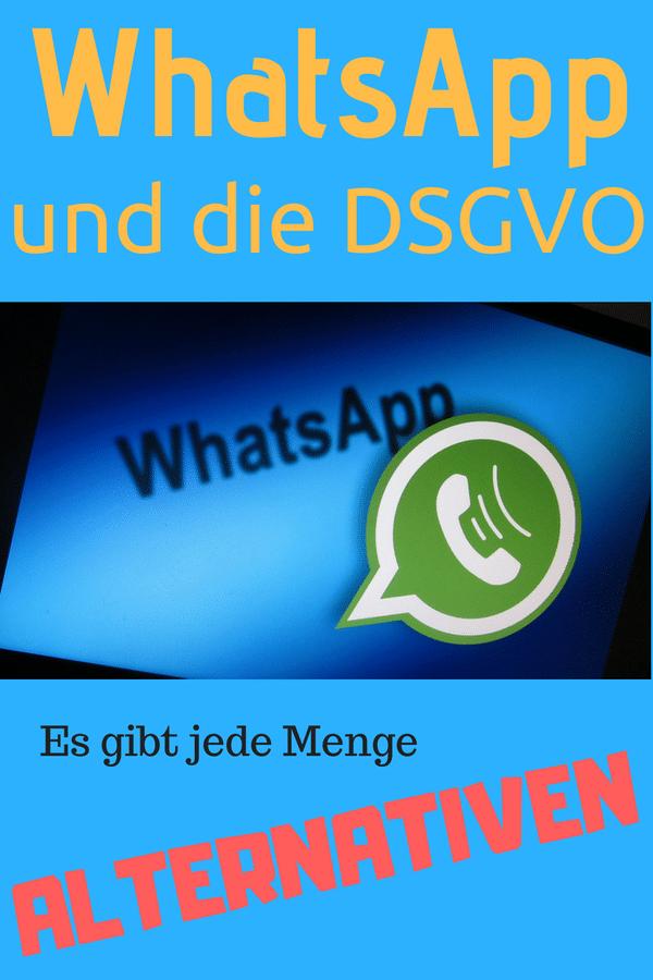 WhatsApp und die DSGVO - viele WhatsApp-Alternativen